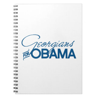 Georgians for Obama -.png Spiral Note Book
