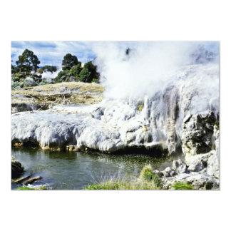 Geothermal Activity, Rotorua, North Island 13 Cm X 18 Cm Invitation Card