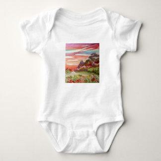 "Geotic Baby Bodysuit ""Eon Isle: Sunset Mountains"""