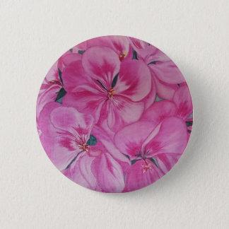 Geranium 6 Cm Round Badge
