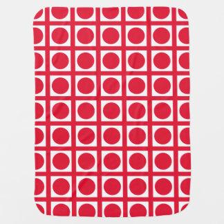 Geranium Elegant Grid Dots Baby Blanket