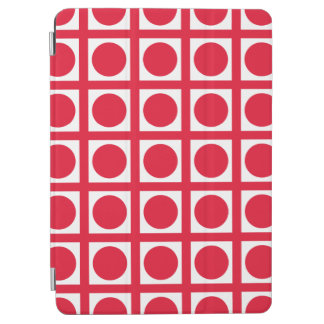 Geranium Elegant Grid Dots iPad Air Cover