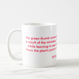 Geranium Garden Mug with Quote #1