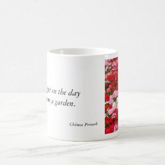 Geranium Garden Mug with Quote #2