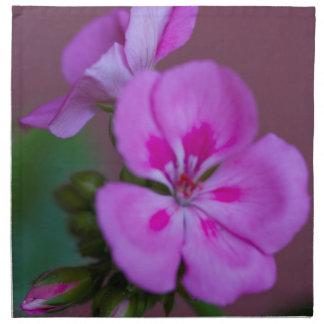 geranium in the garden cloth napkins