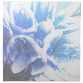 geranium  in the garden printed napkin