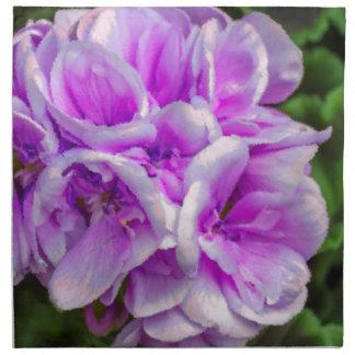 geranium  in the garden printed napkins