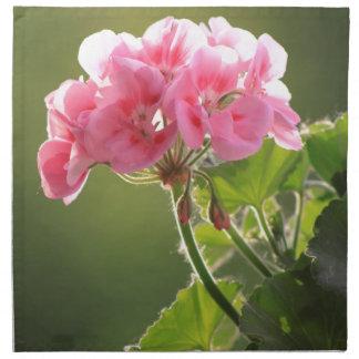 geranium napkin