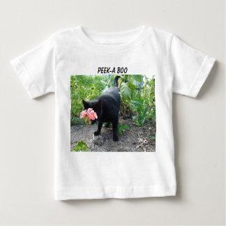 Geranium&Peek-a-boo Cat Baby T-Shirt