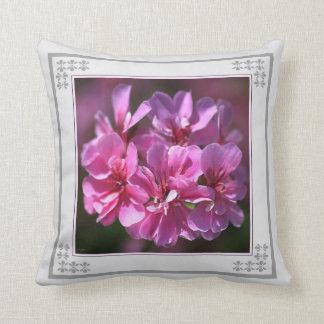 Geranium Pink Pillow by bubbleblue