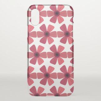 Geranium Red Bloom iPhone X Case