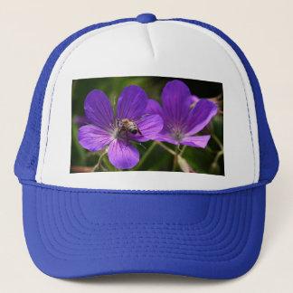 Geranium with Bee Trucker Hat