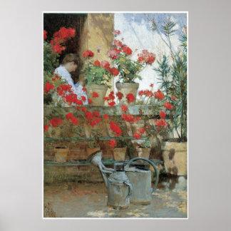 Geraniums, 1888-89 poster