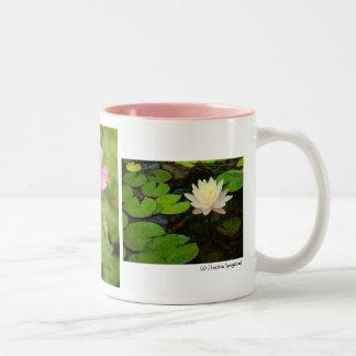 Geraniums Daisies Water lily Mug