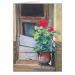 """Geraniums on the Steps"" Greeting Card"