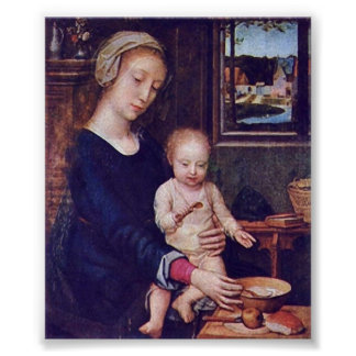 Gerard David - The Madonna of the Milk Soup Poster