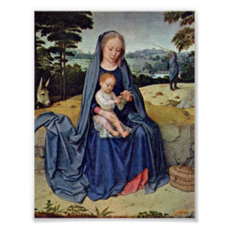 Gerard David - The Rest on the Flight into Egypt Poster