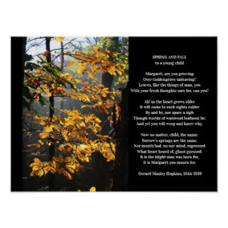 Gerard Manley Hopkins Spring and Fall Poem Poster