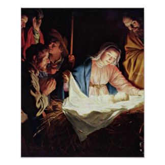 Gerard van Honthorst - Adoration of the Shepherd Poster