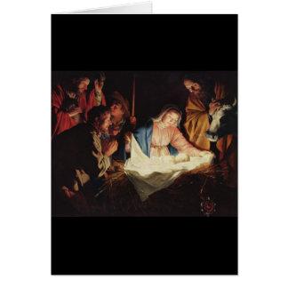 Gerard van Honthorst Nativity Card