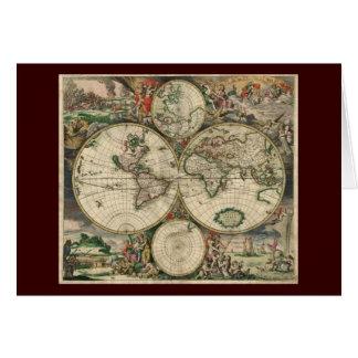 Gerard Van Schagen's Map of the World, 1689 Card