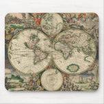 Gerard Van Schagen's Map of the World, 1689 Mousepads