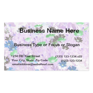 gerber daisies field multi colored flower invert business cards