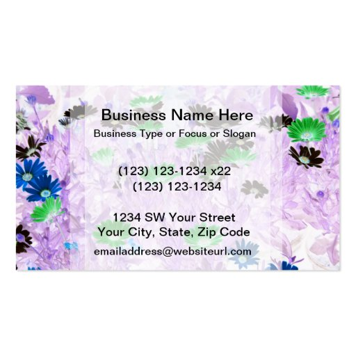 gerber daisies field multi colored flower invert business card templates