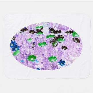 gerber daisies field multi colored flower invert swaddle blankets