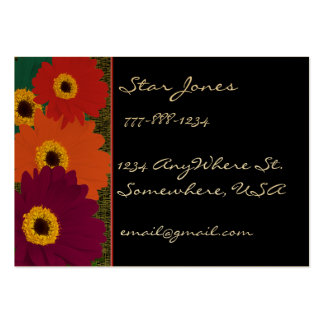 Gerber Daisies Plum Orange Teal Red & Lime Business Card Templates