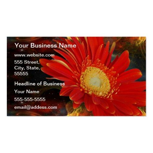 Gerber Daisy Business Card Template