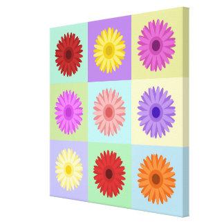 Gerbera 3x3 Daisy Design Gallery Wrap Canvas