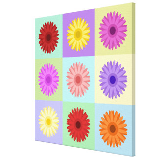 Gerbera 3x3 Daisy Design Gallery Wrapped Canvas