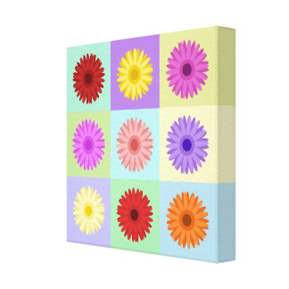 Gerbera 3x3 Daisy Design Gallery Wrapped Canvas