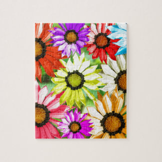Gerbera colourful flower floral jigsaw puzzle