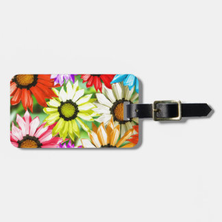 Gerbera colourful flower floral luggage tag