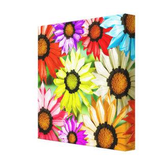 Gerbera colourful flowers canvas print