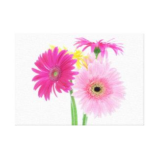 Gerbera Daisies Pink Gallery Wrap Canvas