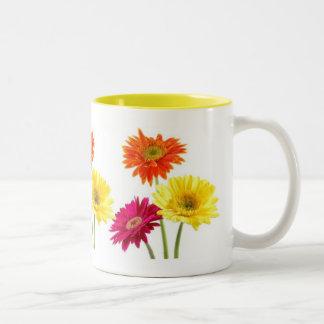 Gerbera Daisies Two-Tone Mug