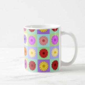 Gerbera Daisy Big Pattern Basic White Mug