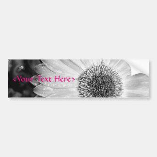 Gerbera Daisy Black & White Photograph Bumper Sticker