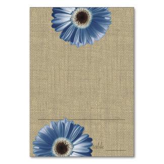 Gerbera Daisy Blue Seating Card
