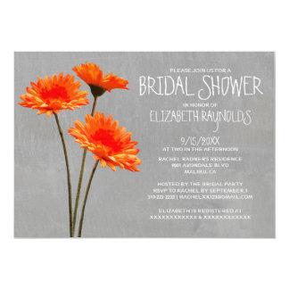 Gerbera Daisy Bridal Shower Invitations
