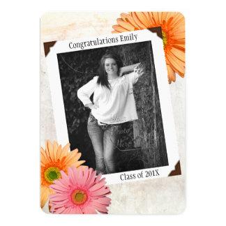 Gerbera Daisy Daughters Photo Graduation 13 Cm X 18 Cm Invitation Card