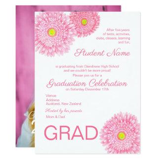 Gerbera Daisy Flower Graduation Invitation