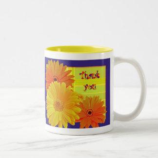 Gerbera Daisy (Gerbera hybrida) - Yellow Two-Tone Mug
