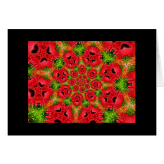 Gerbera Daisy Kaleidoscope Blank Greeting Card