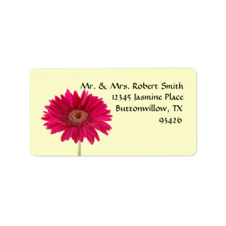 Gerbera Daisy Label