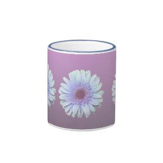 Gerbera Daisy Ringer Coffee Mug