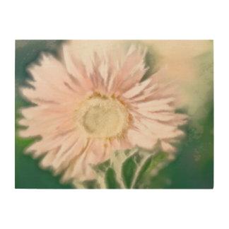 Gerbera Daisy Pastel Wood Print